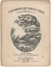 The Grave of Uncle True - Victorian Sheet Music - Philadelphia Beek & Lawton