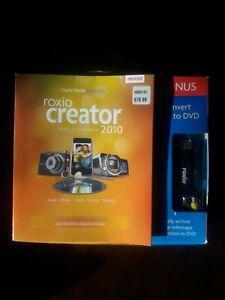 Roxio Creator 2010 Special Edition - VHS Video8 Hi8 Home Movies DVD USB Transfer