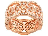 Bella Luce Cubic Zirconia 18k Rose Gold Over Silver Band 4.06ctw | Size 8 | $65