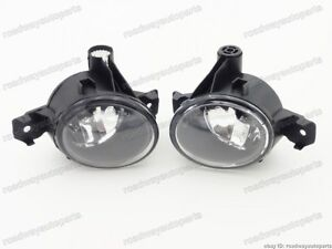Front Bumper Clear Fog Light Lamps PAIR for BMW X5 E70 2007-2010