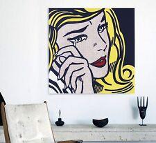 XXL LEINWAND BILD 100x100x5 ROY LICHTENSTEIN POP-ART GEMÄLDE IKEA LOFT DESIGNE