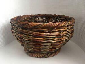 Large Wicker Planter / Fruit Basket