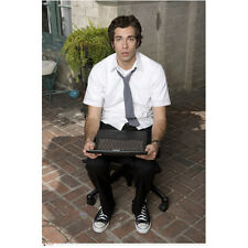 Chuck (TV Series) Zachary Levi as Chuck Bartowski Holding Comp 8 x 10 inch photo