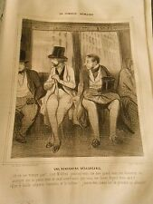 HD 1163 - DAUMIER 1843 The Human Comedy No.05 An unpleasant encounter