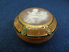 MEISSEN PATE SUR PATE ROUND PORCELAIN BOX PUTTI READING 19TH CENTURY GERMANY