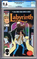 Labyrinth: The Movie #1 CGC 9.6 WP 1986 3789512021 David Bowie! Movie Adaptation