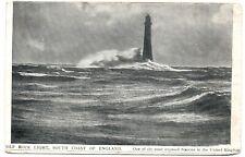Wolf Rock Light South Coast of England United Kingdom Handmade Postcard 1910