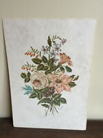 Tableau Ancien estampe à définir (XXe-s) nature morte aux fleurs