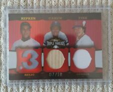 2006 Topps Triple Threads Relic Combo #TTRC-232 (7/18) - Ripken, Carew, Fisk