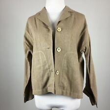Coldwater Creek Petite XS Blazer Jacket Taupe 3 Button Front Pockets Unlined