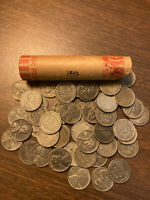 1943-P LINCOLN STEEL WHEAT CENT PENNY ROLL (50 COINS), nice coins