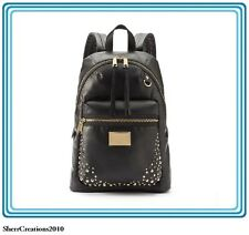 NWT Juicy Couture Tech Studded Backpack Black Faux Leather Bag #340