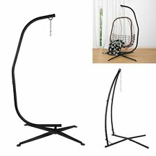 Patio Swing Hammock Chair C Stand Heavy Duty Steel Solid Hanging Tree Tent Stand