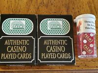 2 Decks Playing Cards+1 Pair Dice(Matching Number) Palms Casino Las Vegas