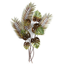 Fern Monstera Metal Wall Decor 106cm | Big Tropical Hanging Garden Sculpture