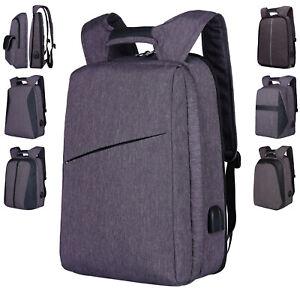 One Backpack Two Styles Men Business Laptop Bag 17 Inch Teenagers School Satchel