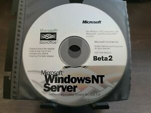 ULTRA RARE: Microsoft Windows NT 5 Server Beta 2 CD - Confidential