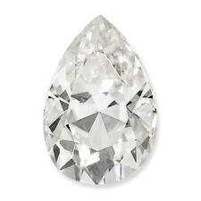 1 Pear Tear Cut Brilliant Moissanite Pure Light 0.94ct tw E-IF 8x5mm Loose Stone