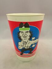 RICKY STEAMBOAT VINTAGE 1985 WWF TITAN SPORTS PLASTIC CUP ARENA GIVE-AWAY