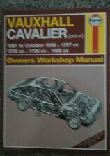 Vauxhall Cavalier ~ 1981~ 1988~  Manual - Haynes