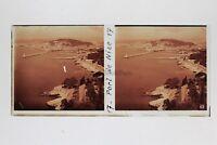Niza El Envío Vista General Francia Foto Estéreo Placa De Cristal Vintage