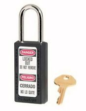 Master Lock 411Blk Safety Series Padlock, High Visibility Aluminum, 3 Inch Black
