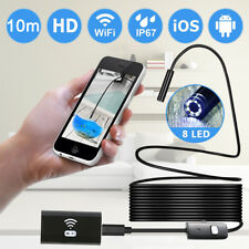 10M Flexible + WIFI Endoscope Borescope Inspection Camera HD For Samsung Apple