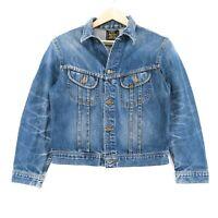 Lee Vintage Blau Slim Western Jeans Jacke Gr. XL