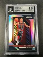 TRAE YOUNG 2018 PANINI PRIZM #78 SILVER REFRACTOR ROOKIE RC BGS 8.5 W/2 9 SUBS