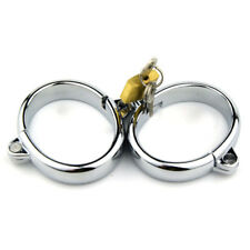 Alloy Pair Lockable Handcuffs Metal Hand Wrist Restraint Slave Game Roleplay