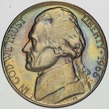 1966-P USA JEFFERSON NICKEL PROOF UNC GEM TONED CHOICE BU COLOR #21 (DR)