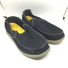 Crocs Mens Black Canvas Slip On Casual Loafter Size 10