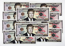 10 USA Donald Trump fantasy paper money currency for President 2016