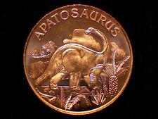 1 oz Copper Round - Apatosaurus Dinosaur #24
