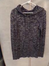 Women's Rue 21 Blue/Gray Blend Long Sleeve Hoodie Sweater Top Sizes Med