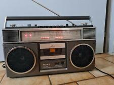 RARE-Sony CFS-65L Stéréo Portable Cassette Boombox Ghetto Blaster Rétro Vintage