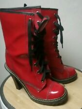 High heeled Dr martens styled boots
