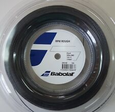 New BabolaT RPM BLAST ROUGH 125/17 200M Reel Tennis String, Black