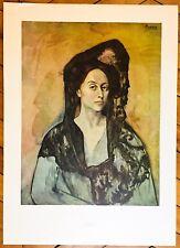 Picasso Pablo affiche Farb Offset 1966 Madame Ricardo Canals Muséum Barcelona