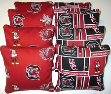 8 SOUTH CAROLINA GAMECOCKS CORNHOLE BEAN BAG TOSS GAME USC TOP QUALITY