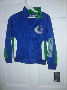Vancouver Canucks Hockey  NHL Canada Track Jacket athletic apparel NEW - Youth S