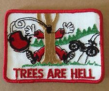 Vintage Trees Are Hell Motorcycles Biker Sew On Patch Patches