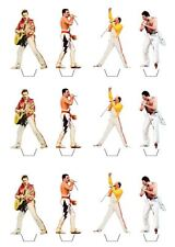 12 Freddie Mercury Edible Wafer Cupcake Toppers **STAND UPS**
