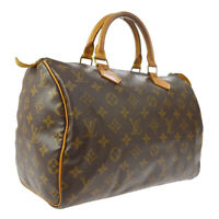 LOUIS VUITTON SPEEDY 30 HAND BAG MONOGRAM CANVAS LEATHER M41526 A43796b