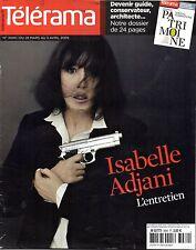 TELERAMA 2009: ISABELLE ADJANI => Cover collector + ALAIN BASHUNG
