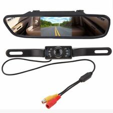 Car Rear View Backup 7 LED Parking Mirror Monitor + Camera HD Night Vision