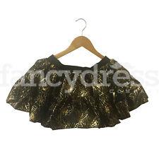 Ladies Spider Web Halloween Tutu Fancy Dress Costume Accessory Black Gold NEW