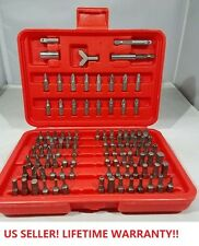100-Pcs Accessory Piece Drill Set Case Screw Bit Kit Awesome New!