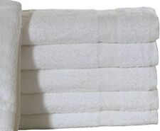 "12 NEW 24x48 WHITE HOTEL ""Belize"" BRAND BATH TOWELS HOTEL MOTEL 100% COTTON 10/S"