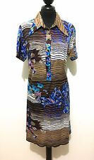 CULT VINTAGE '70 Abito Vestito Donna Jersey Flower Woman Dress Sz.L - 46
